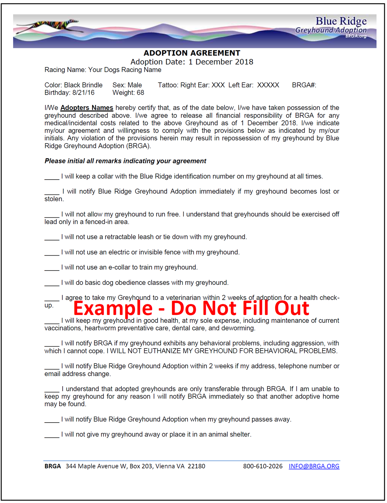 Sample Adoption Agreement