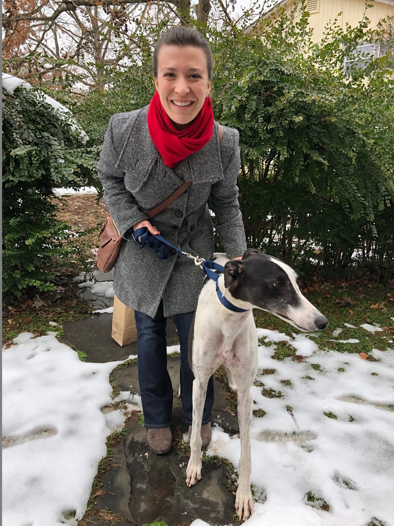 Jessica could not wait to meet PJ Metro Boom, now called Cairo. Cairo has some fun energy and and is so curious about everything! Jessica cannot wait to show him him off when they go for walks in the city!  Congrats to Jessica and Cairo!
