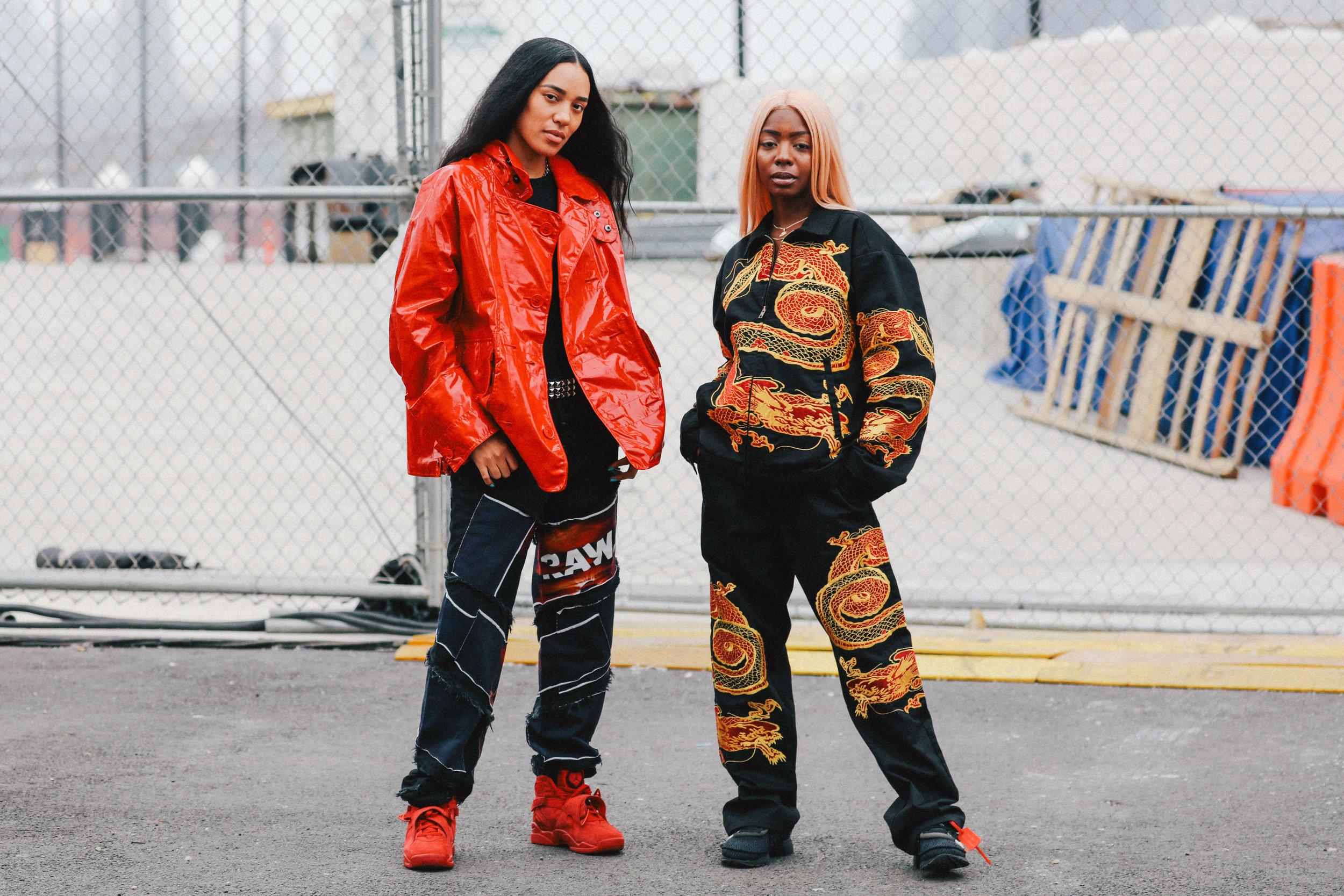 Designer Aleali May and DJ Siobhan Bell