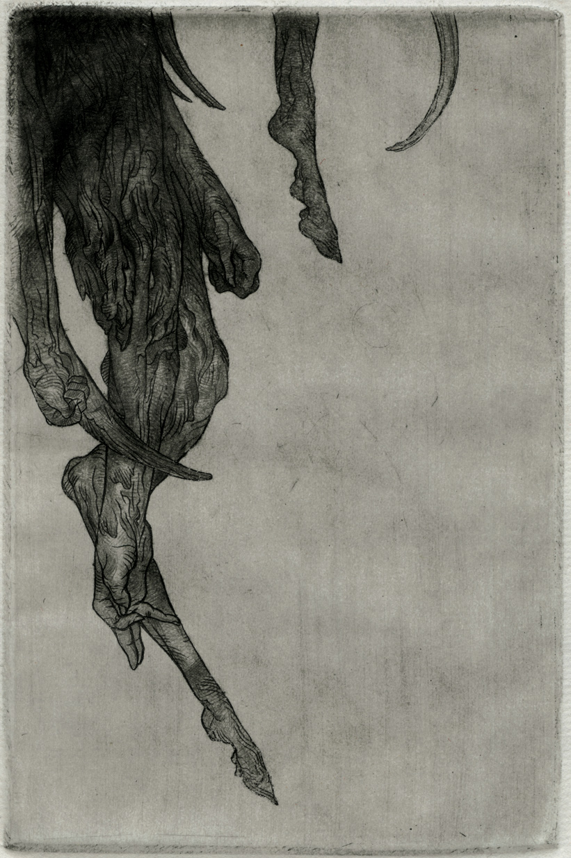 """"""" Le Cretin """" Etching and Drypoint 15x10cm"""