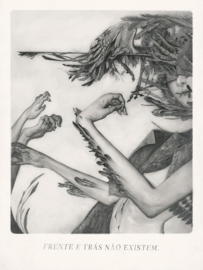 """"""" Le Sacre du Printemps II - Migration """" Graphite on Paper, Vellum and Acetate 27,5 x 21 cm"""