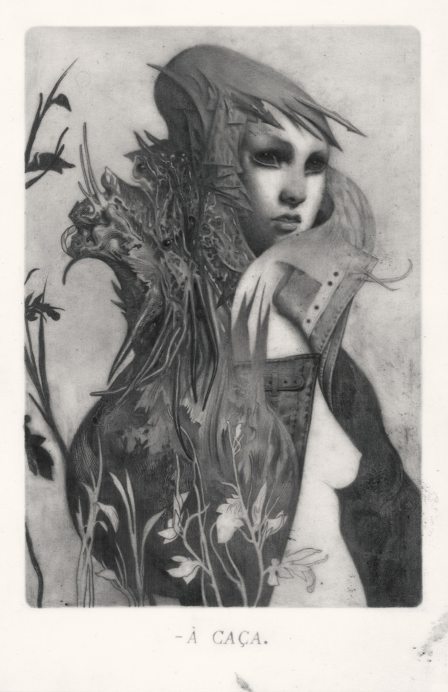 """"""" Le Sacre du Printemps IV - Hunter """" Graphite on Paper, Vellum and Acetate 18 x 21 cm"""