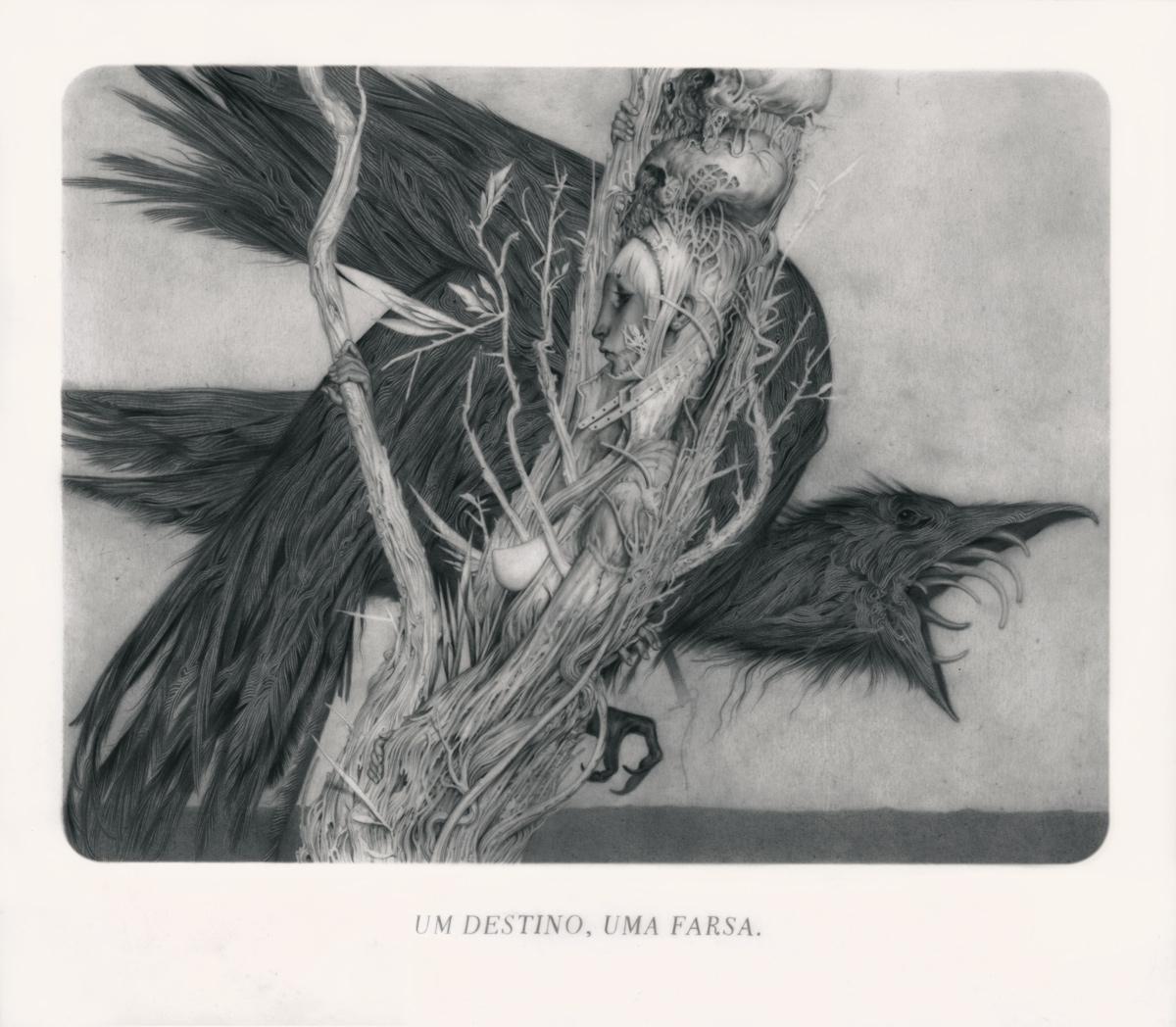 """""""Le sacre du Printemps, VII - Sides"""" Graphite on Paper, Vellum & Acetate 33 x 29 cm"""