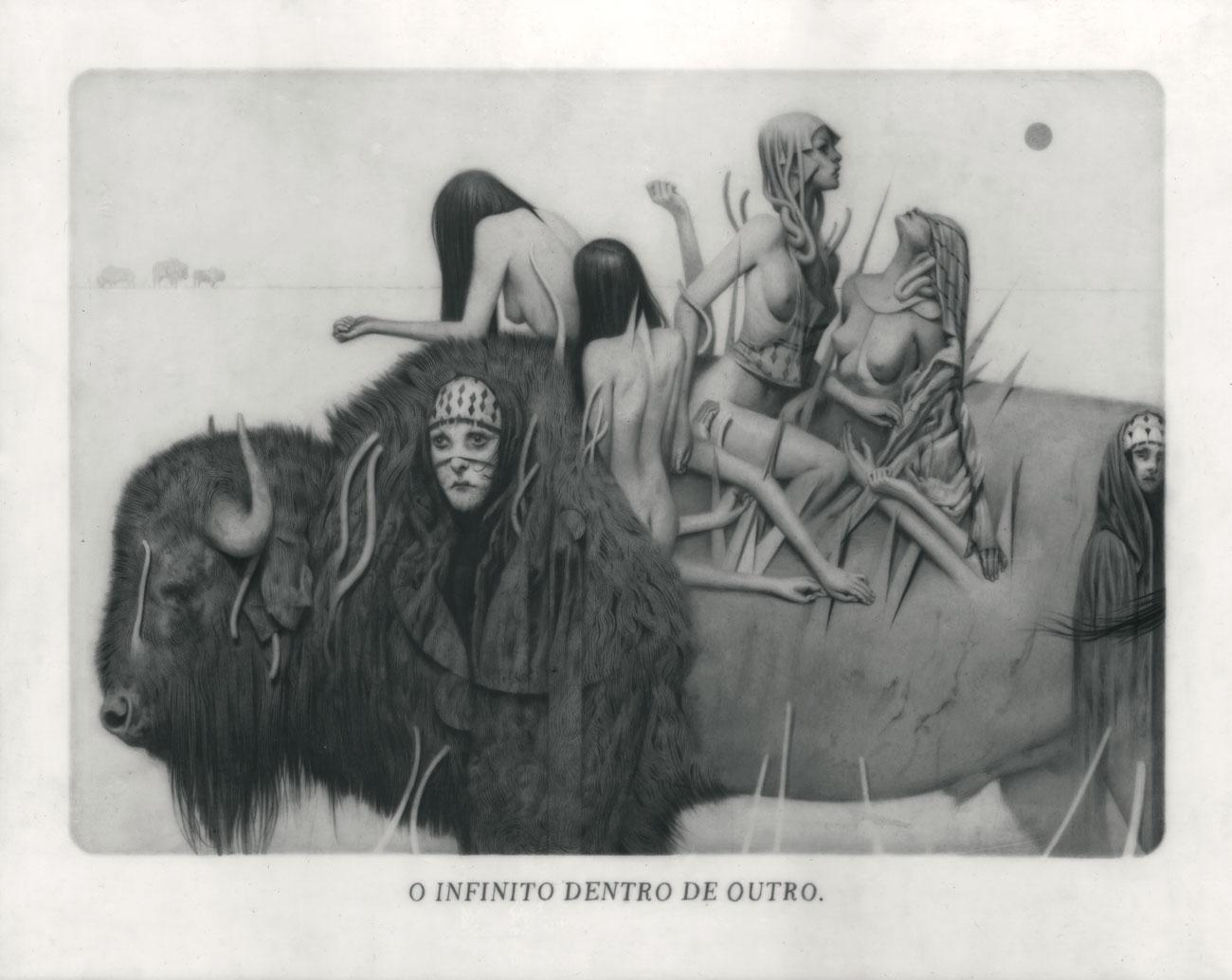 Le Sacre du Printemps X – Terre Graphite on Paper, Vellum and Acetate 29 x 37 cm