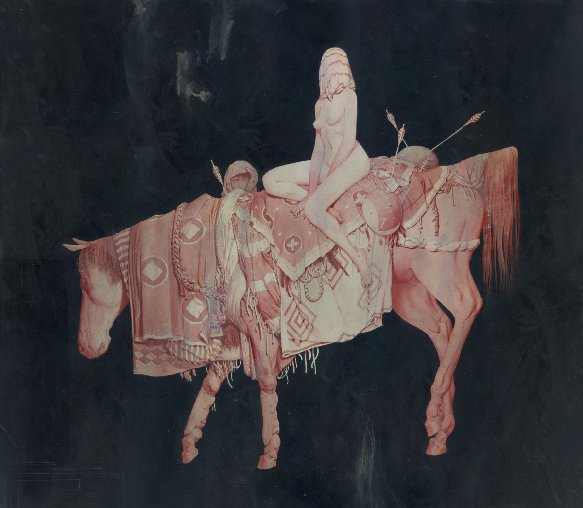 Godiva Acrylic on Paper and Wood 64 x 74 cm