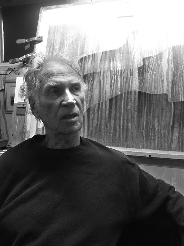 John Cullen at his studio in the Adirondacks