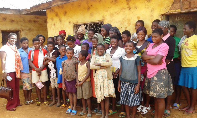 Club of women at Jinkfuin Village of North West Cameroon, after a meeting