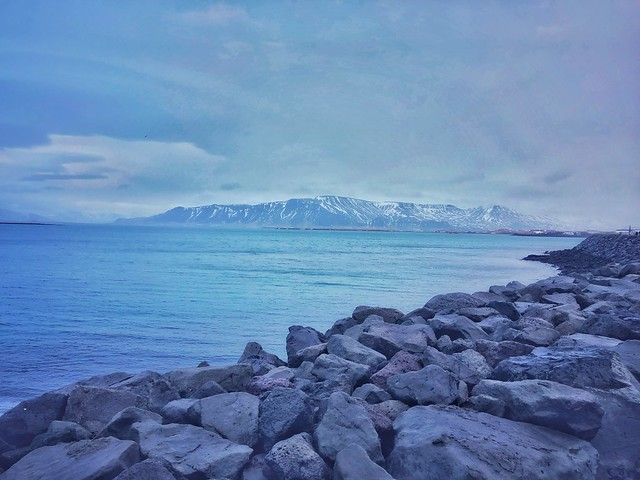 Uitzicht vanuit Reykjavik