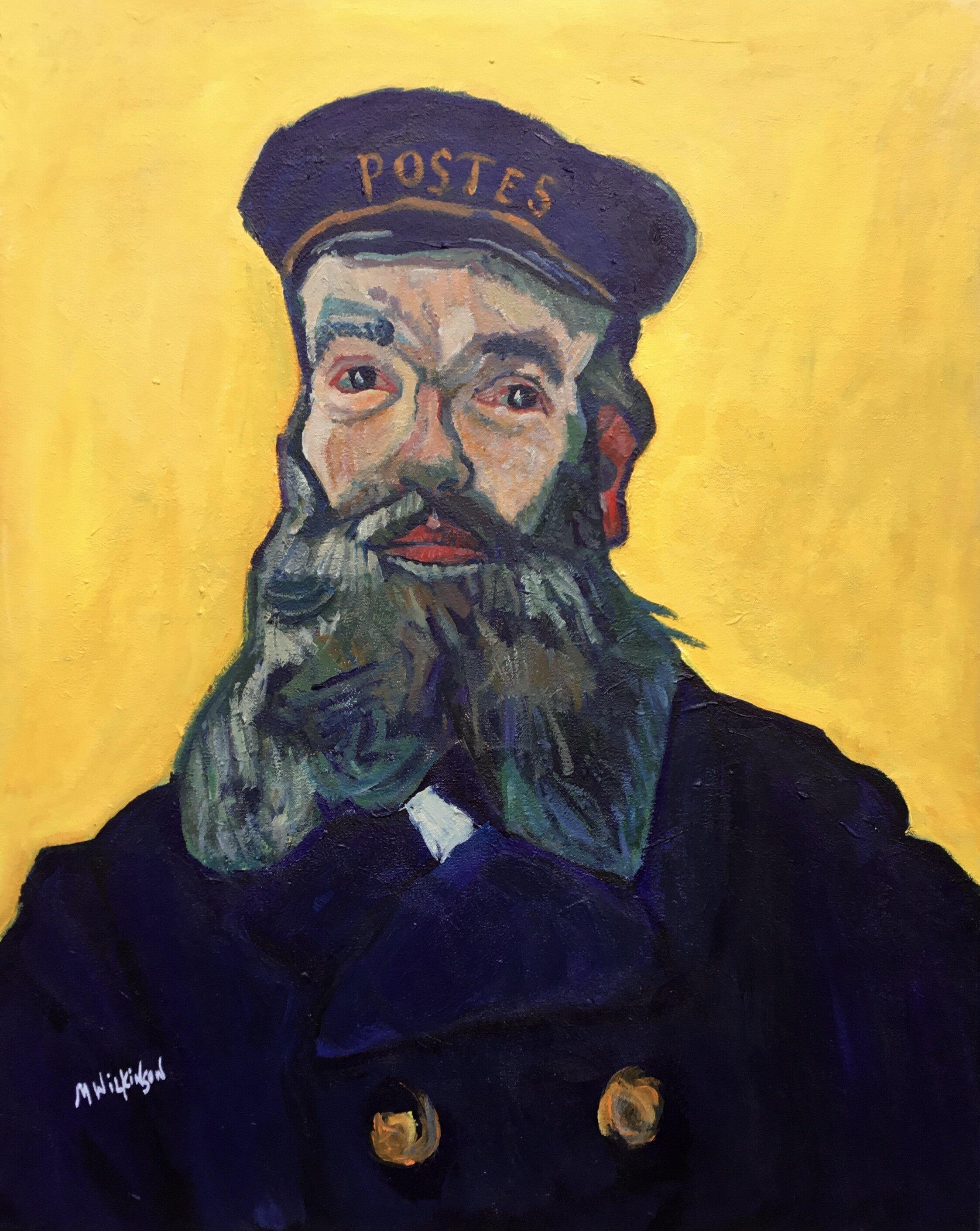 Van Gogh study / joseph roulin