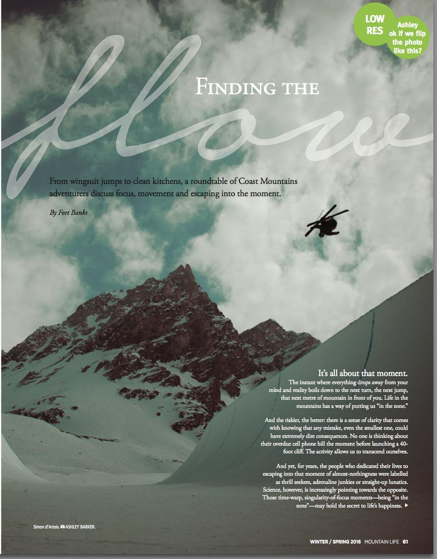 Simon D'Artois in Mountain Life Magazine photography 2