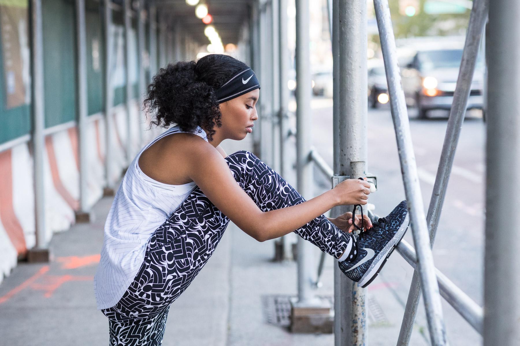 Ashley Barker Nike New York Shoes Sidewalk Construction Patterns Everyday PPL Tank top