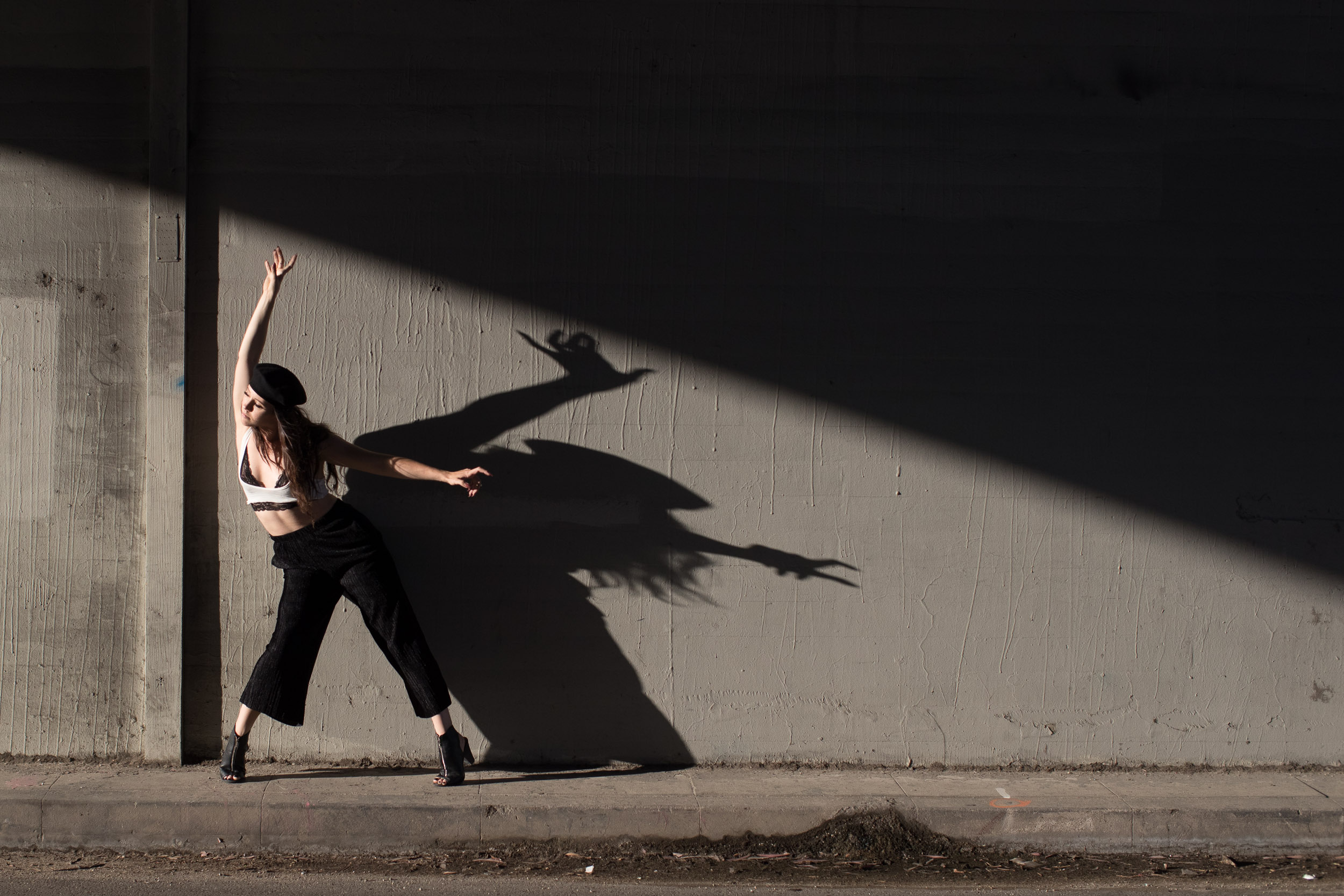 Justin Lutz dancing portrait shadow beautiful LA