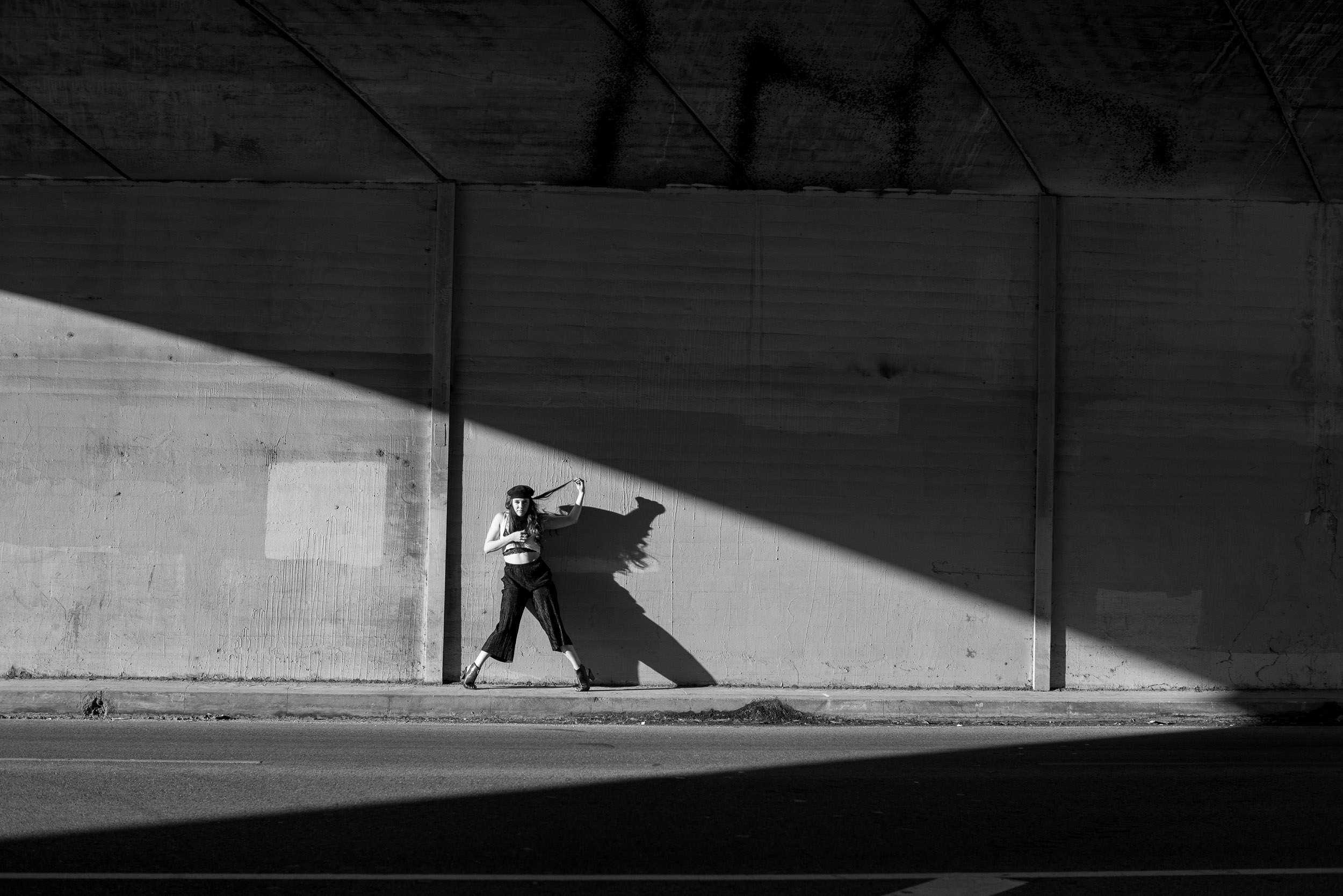 Justine Lutz shadows DT LA black & White choreographer dancers photographer