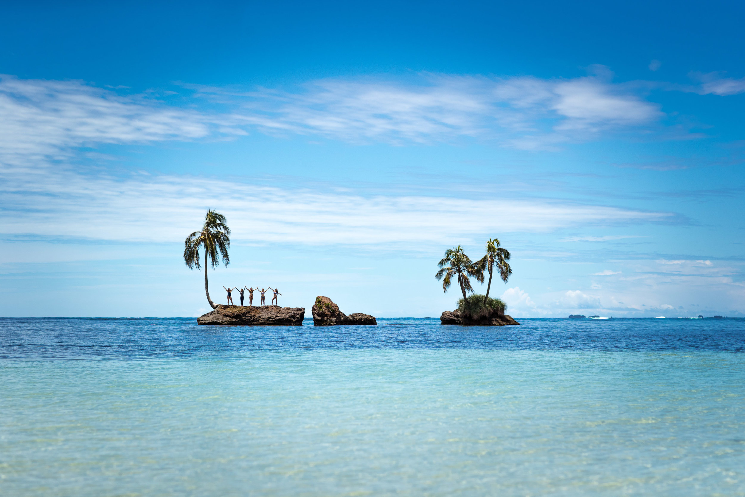Yes this is tiny reef island with palm trees!