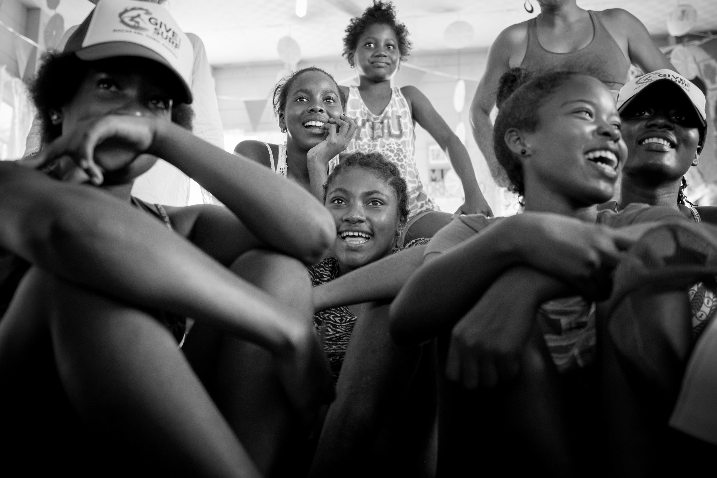 After the girls photoshoot, we did a slideshow showing them how beautiful they are. They really enjoyed watching themselves.