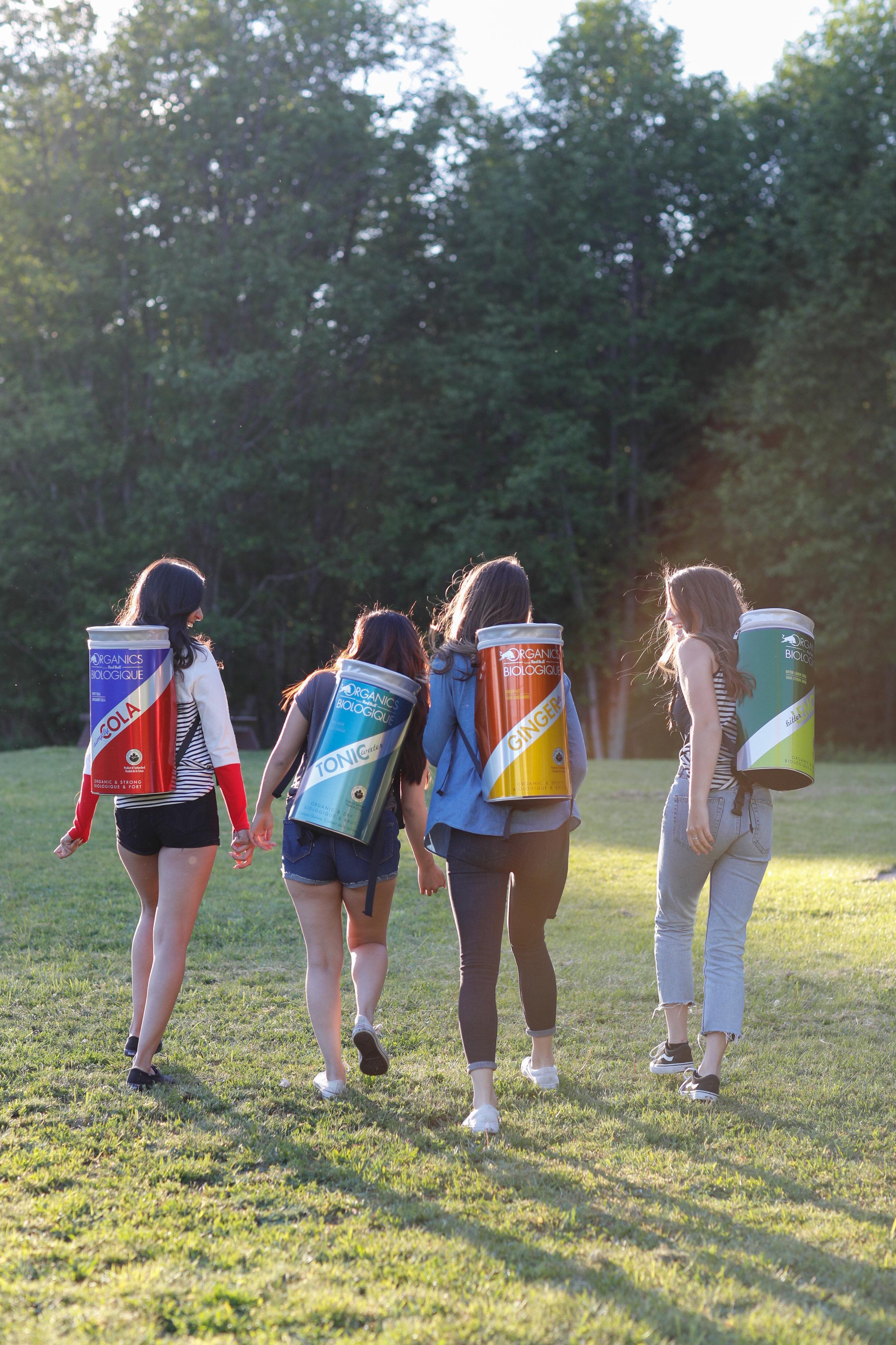 red bull backpacks wings team girl promo
