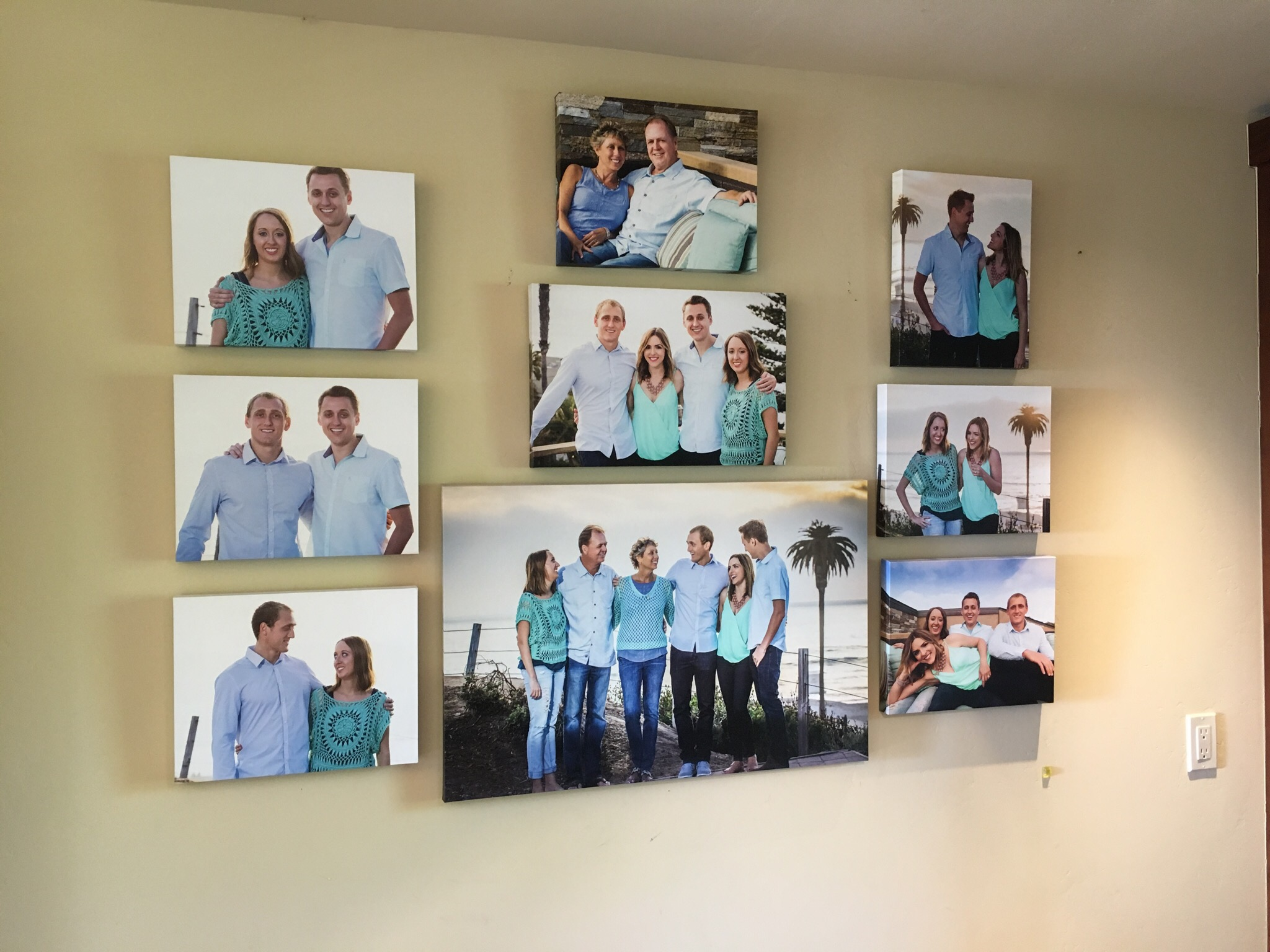 encinitas family photos wall art
