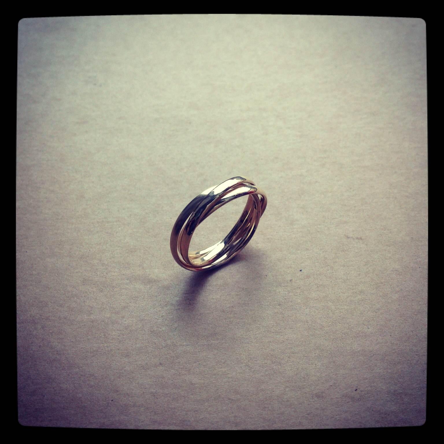 Gold Russian wedding ring