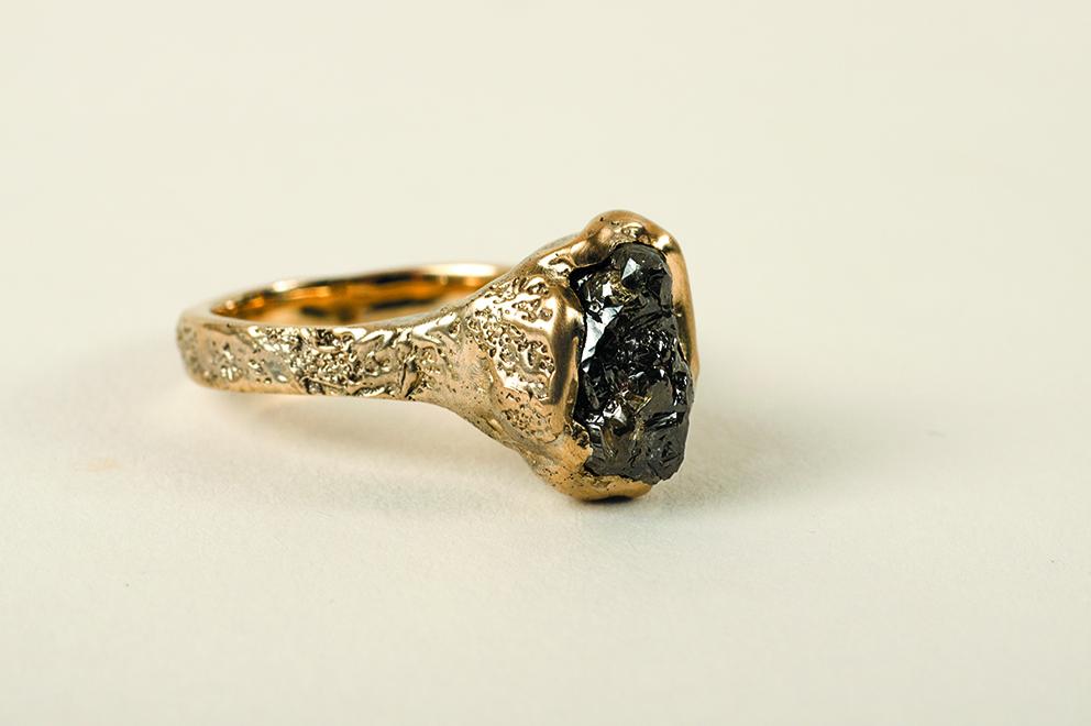 Uncut diamond ring