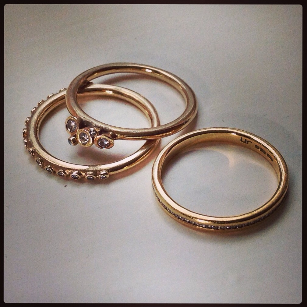 These are my most important pieces of jewellery -  My engagement and wedding rings.