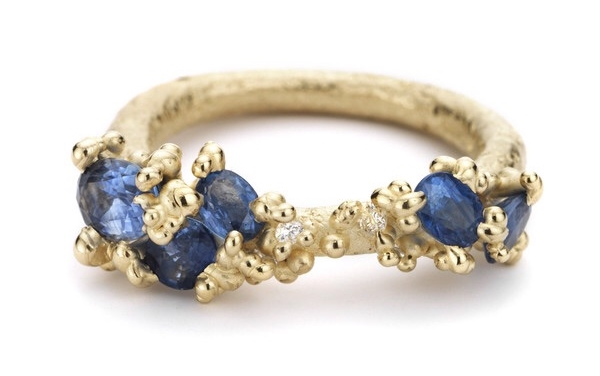 Sapphire encrusted ring by Ruth Tomlinson.....yum!