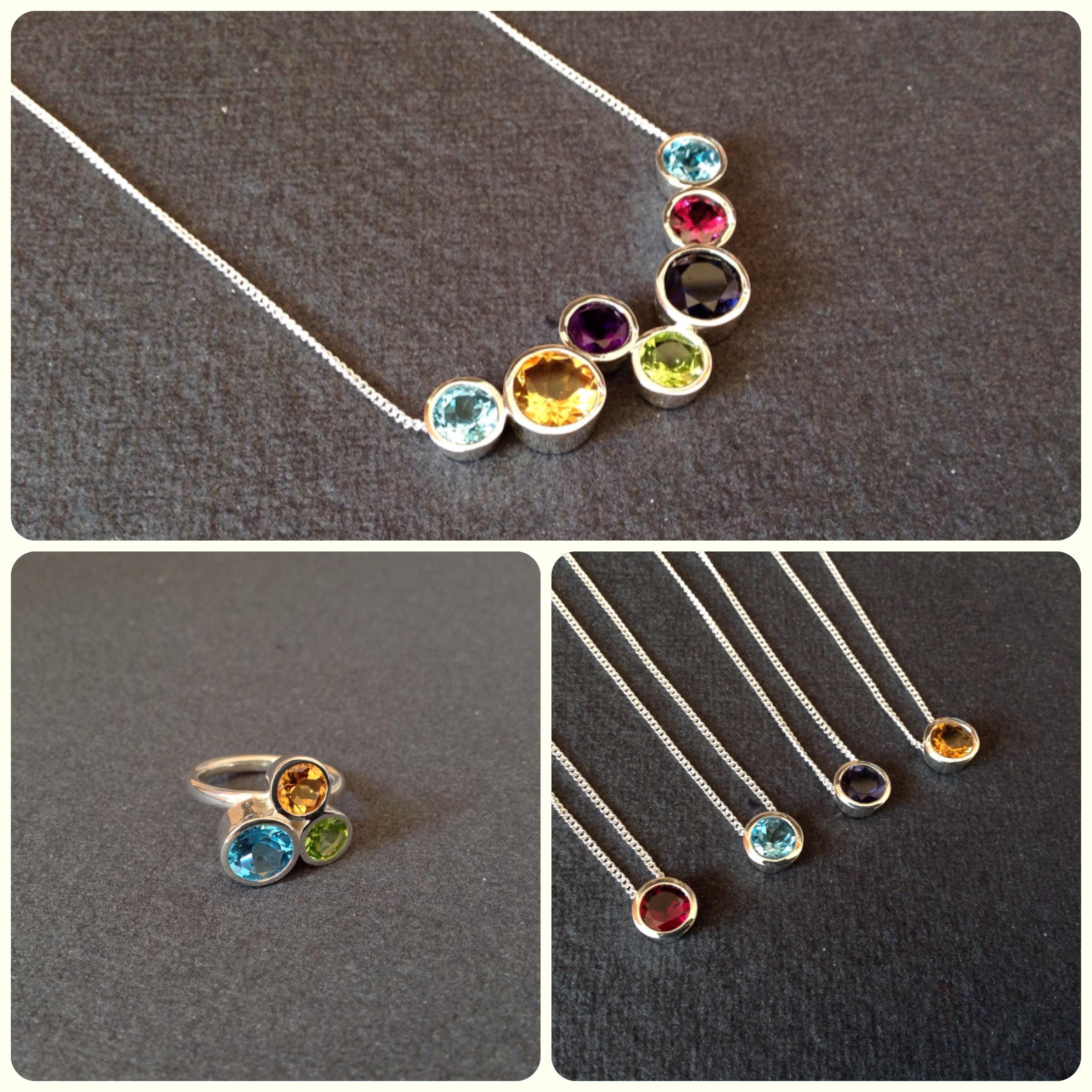 Gemstone silver jewellery