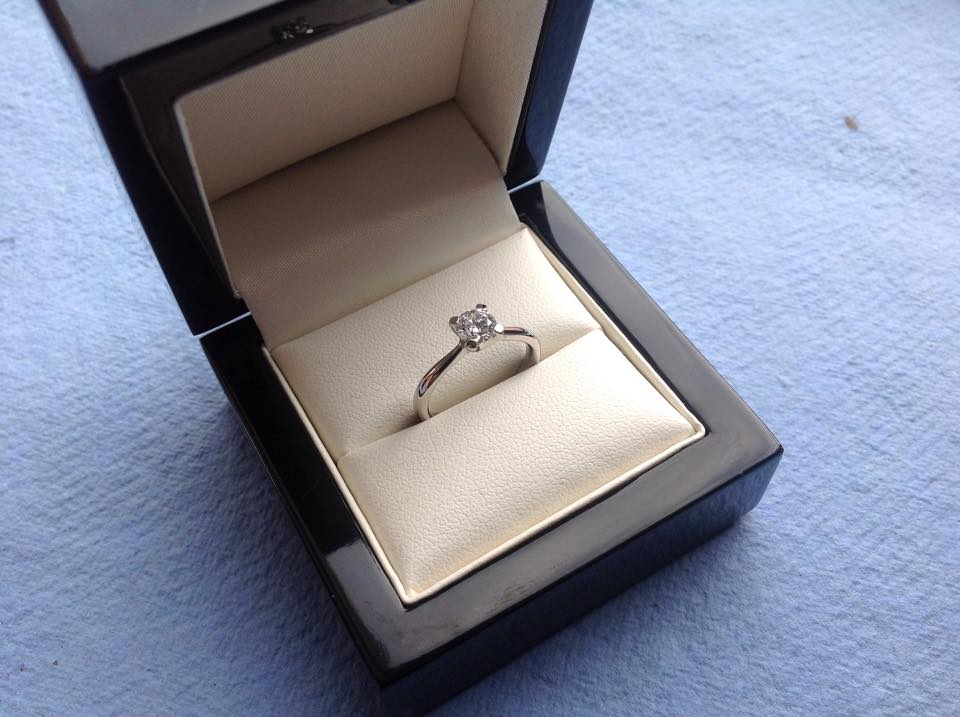 Half carat diamond set in Platinum