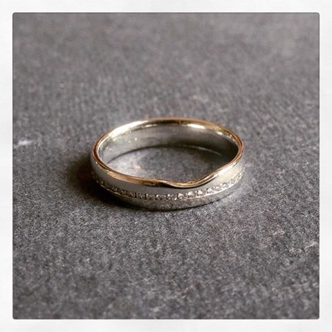 Bespoke platinum and diamond channel set eternity ring
