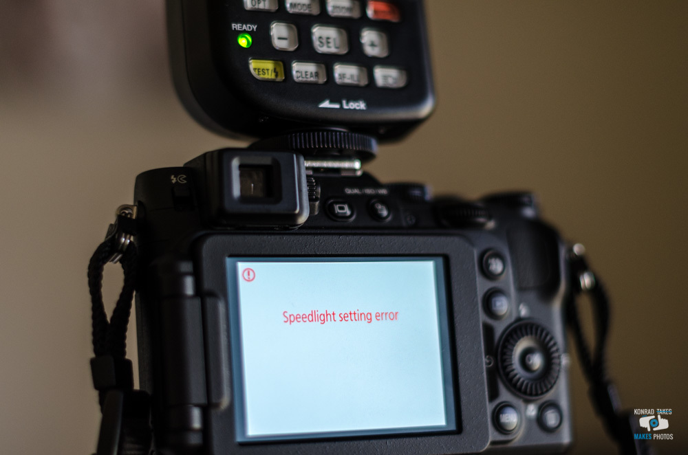 Error message: Coolpix P7800 and Phottix Odin TTL Nikon