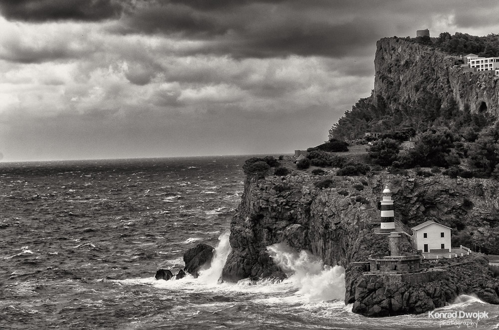 Mallorca, Port de Soller in Black & White