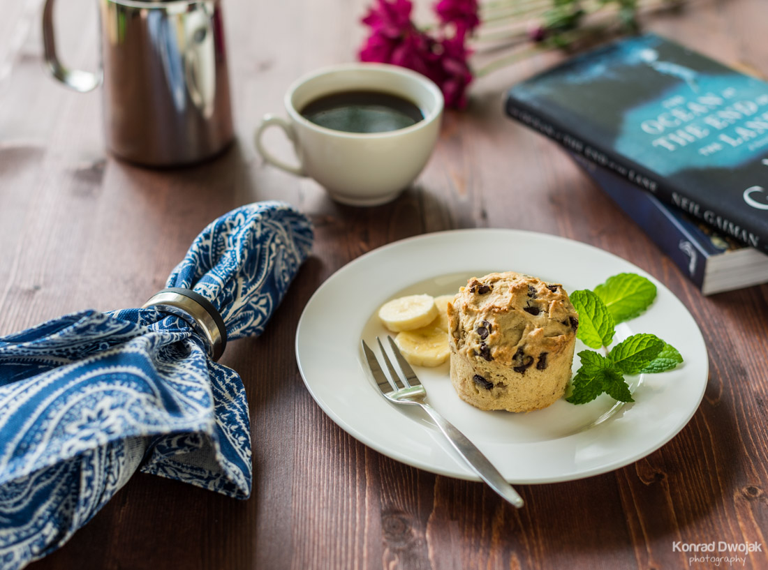 Banana bread muffin - Food Photography