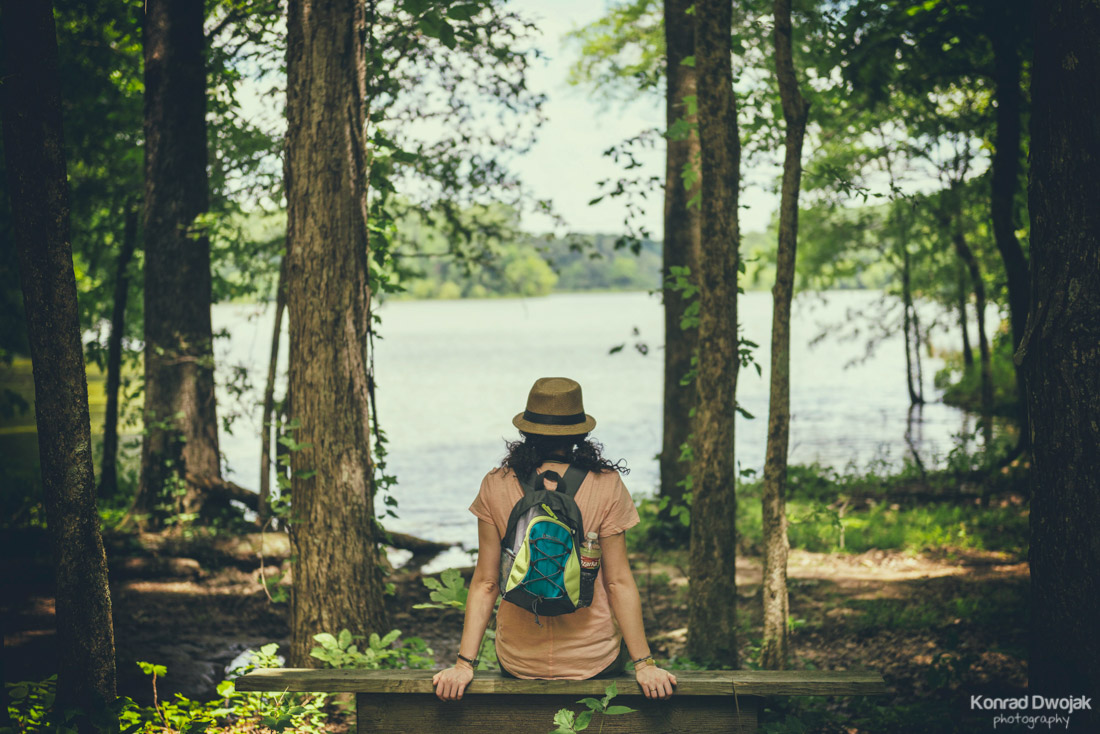 Enjoying the view - Herb Parsons Lake