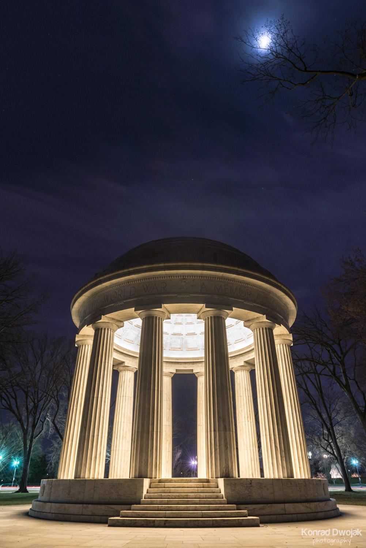 Washington D.C. at night - D.C. World War I Memorial