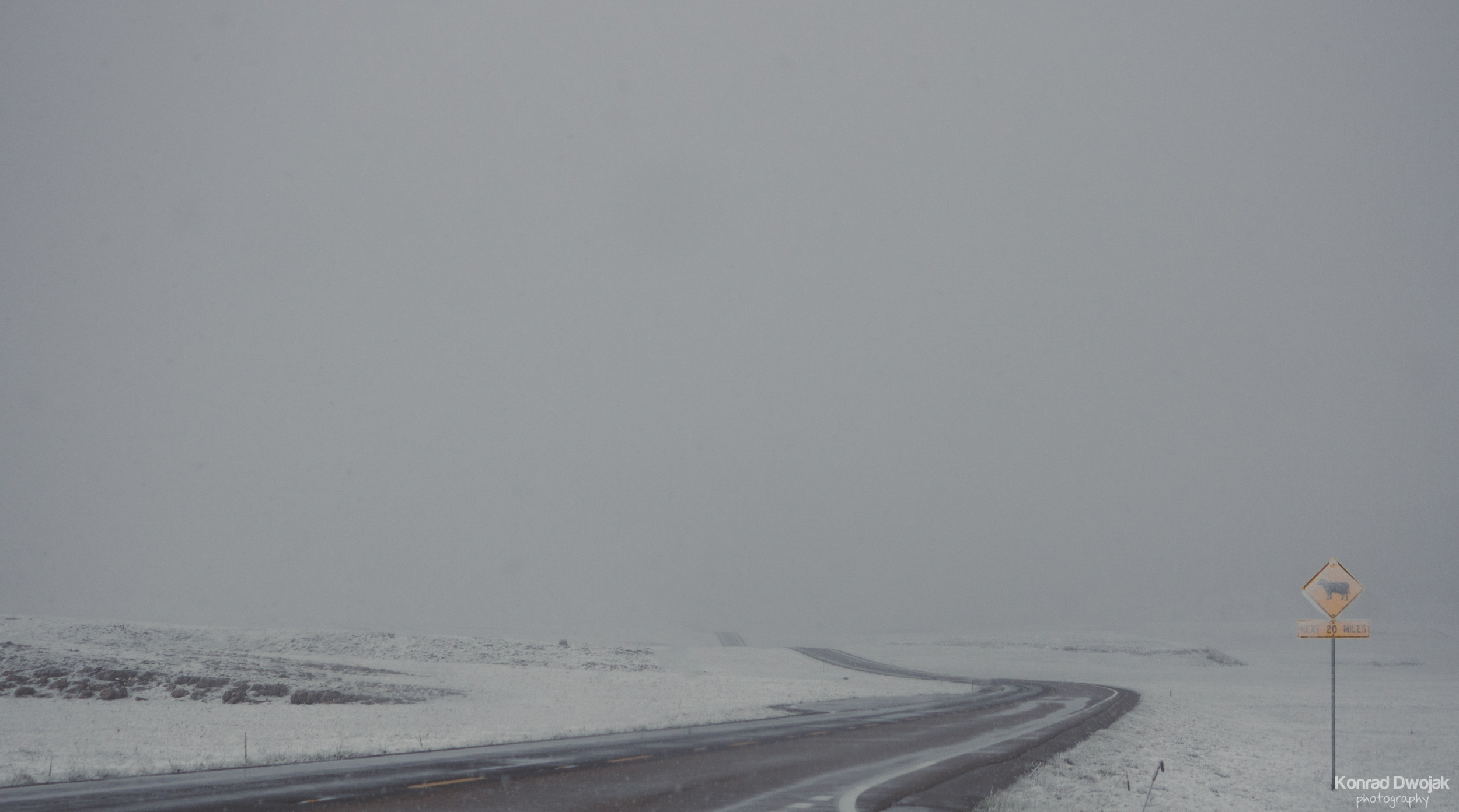 Snowy Road to the Grand Canyon National Park