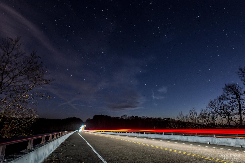 Natchez Trace Bridge at night (nightscape)