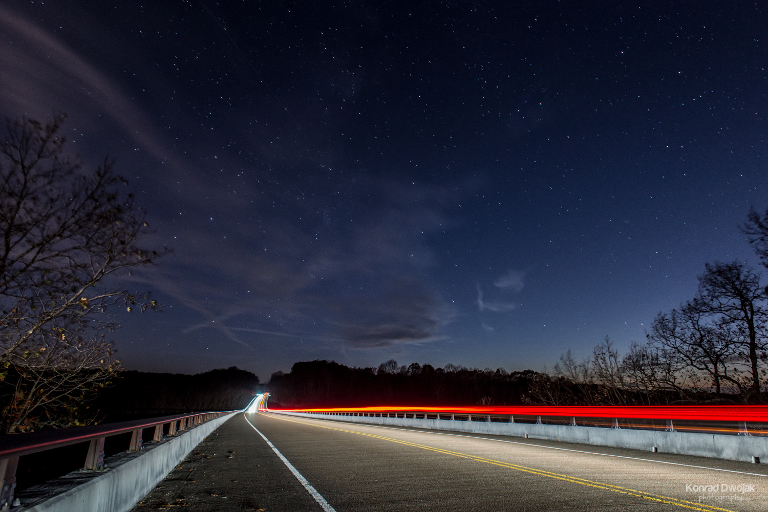 Natchez Trace Bridge at night (nightscape)