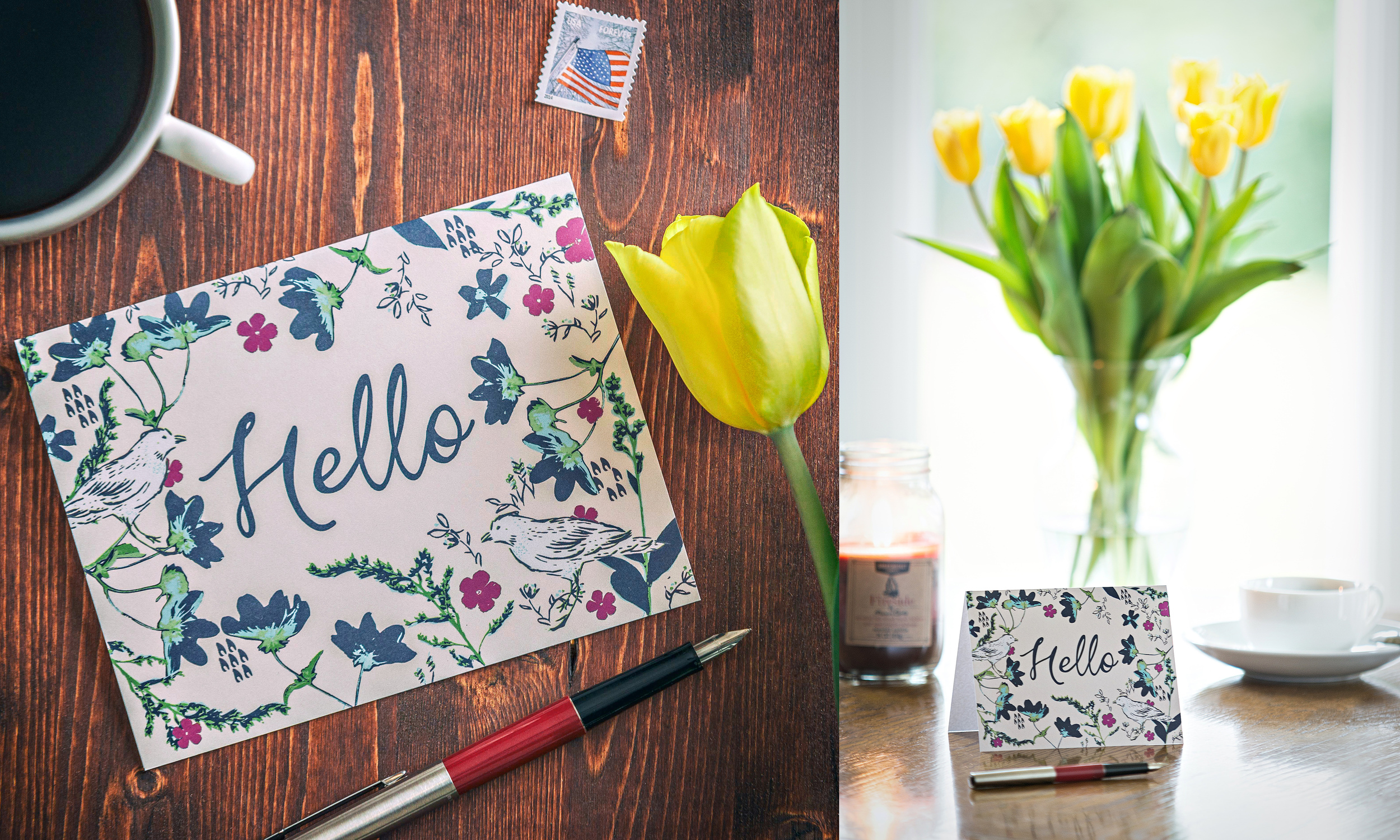 "Greeting Card ""Hello"" Product Photography"