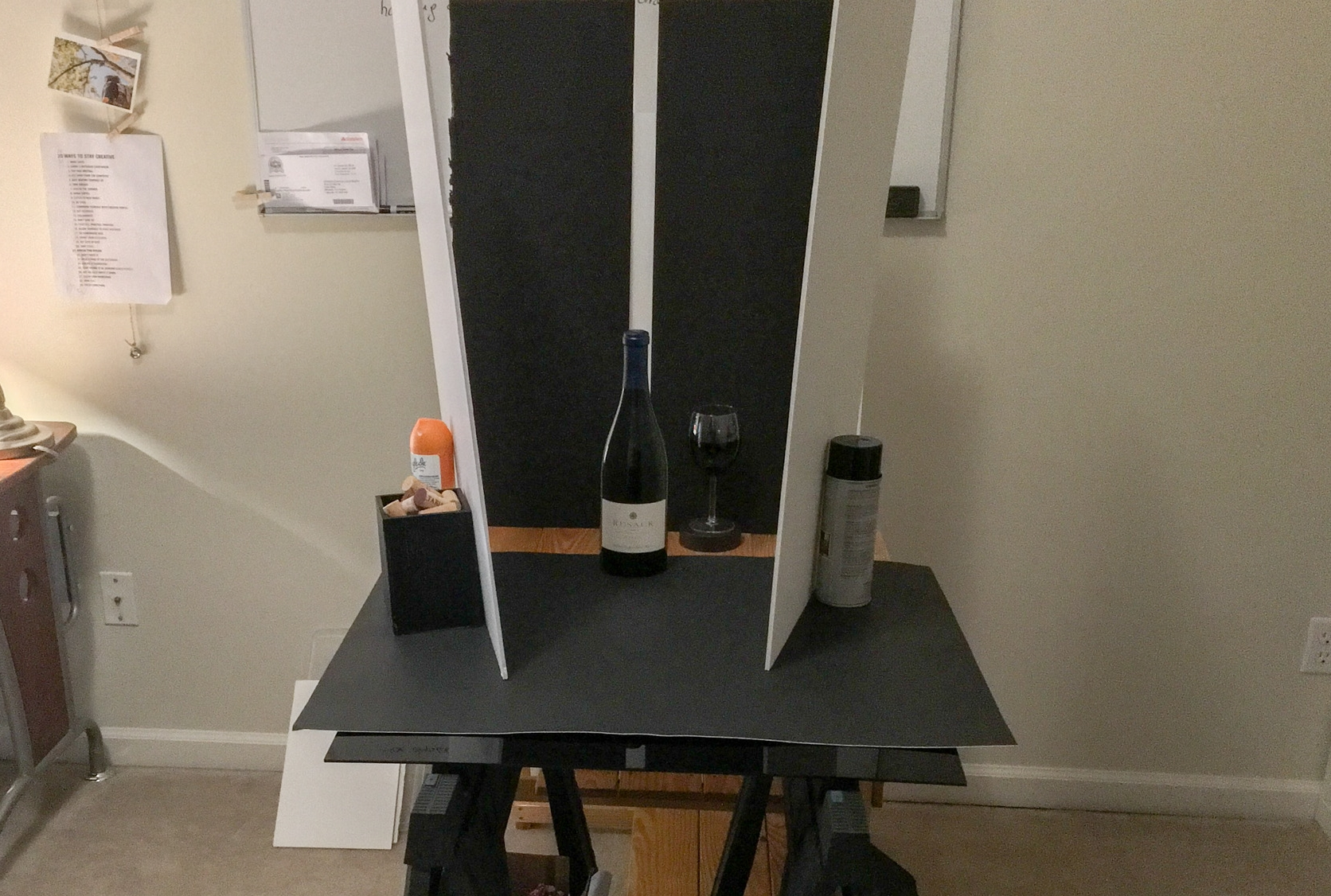 BTS - Wine Bottle with one light source