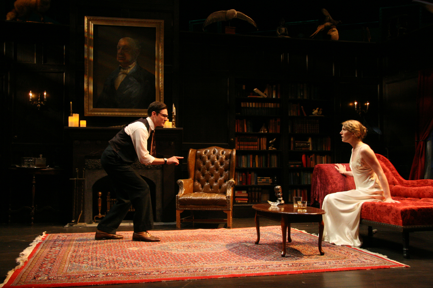 ACT III, BACK IN THE LIBRARY