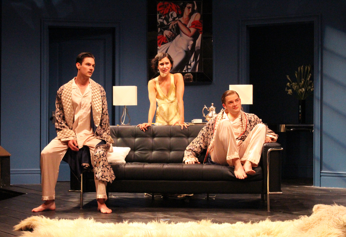 THE THREESOME LISTENING TO ERNEST, ACT III