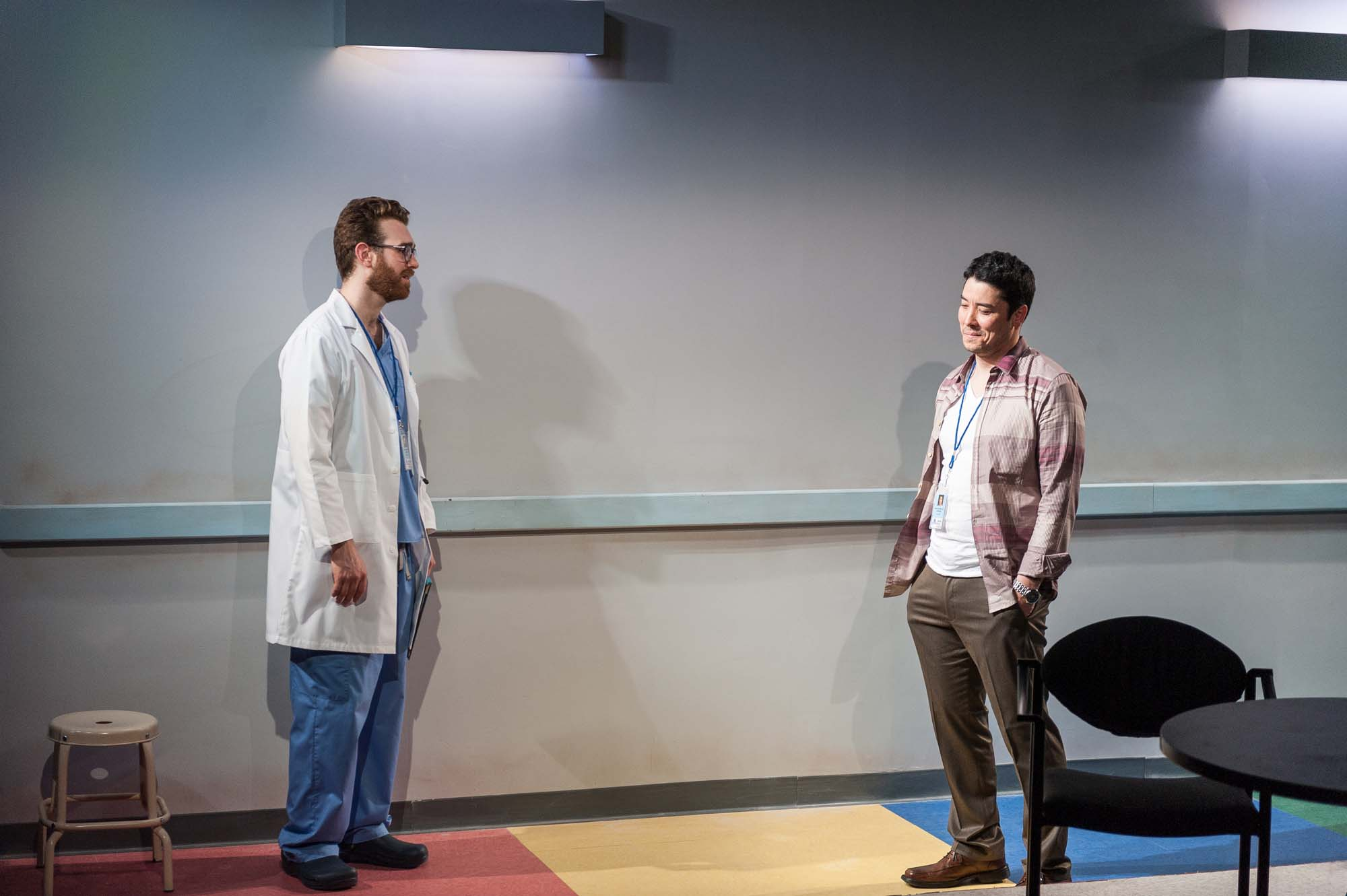 Rod confronts Henry in the Hospital hallway