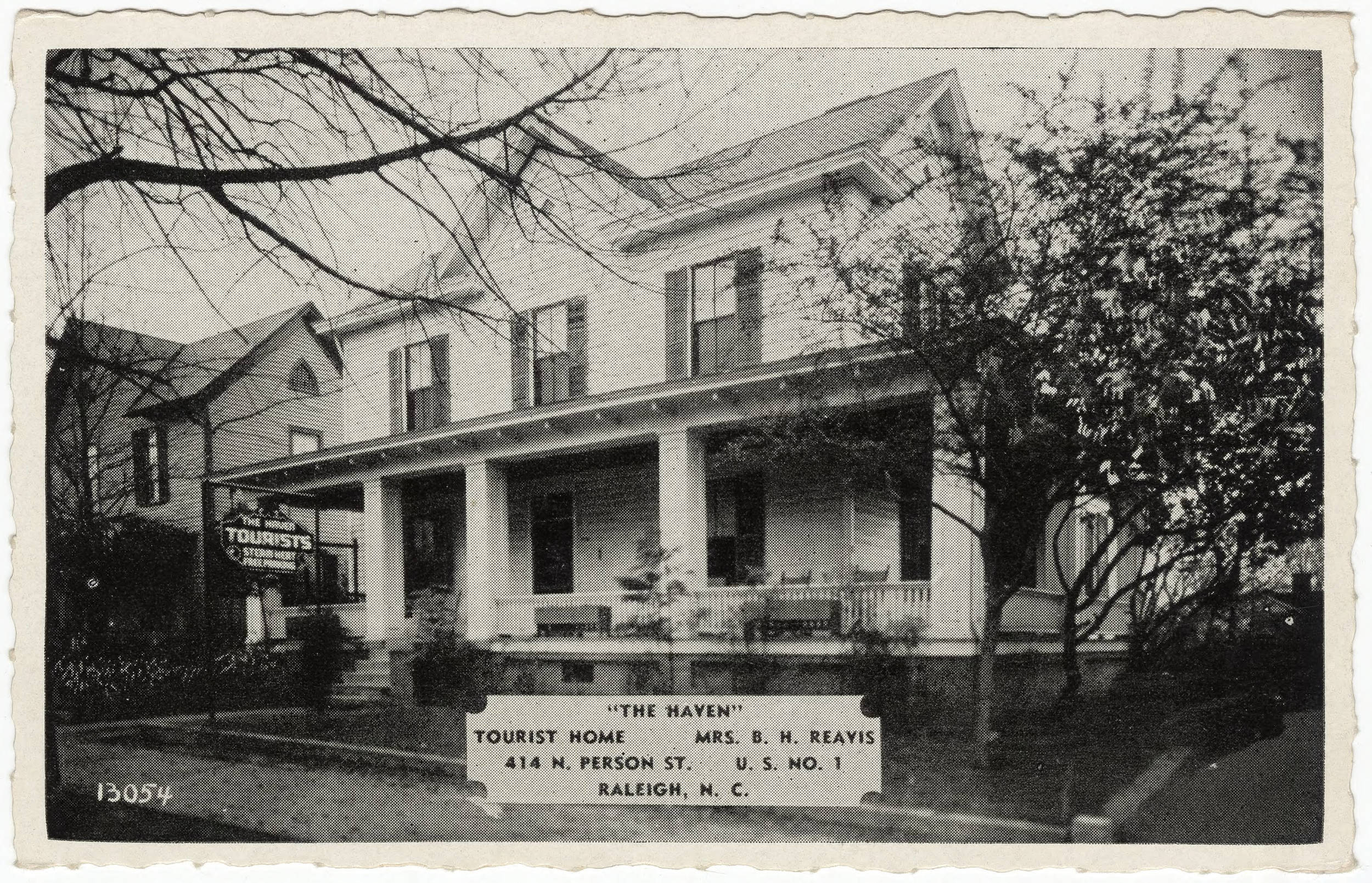 The Haven, Tourist Home, 414 N. Person Street, Raleigh, NC.
