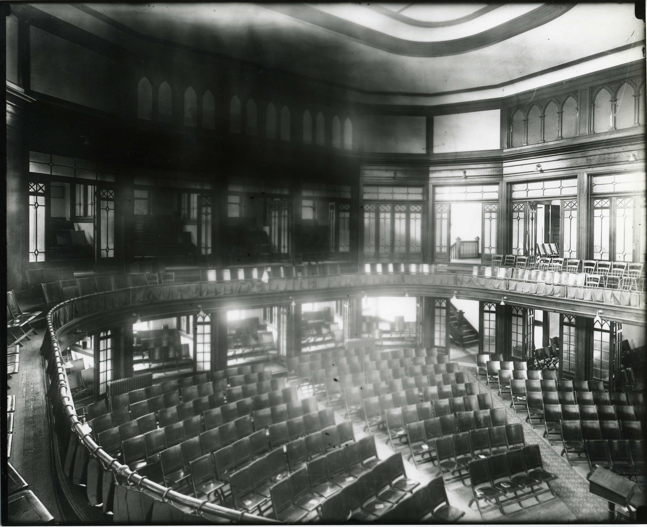 Interior of the Raleigh City Hall Auditorium.  Photo: State Archives of North Carolina