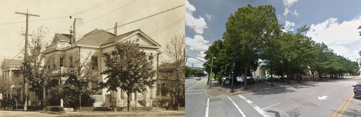 130 Hillsborough Street Then and Now