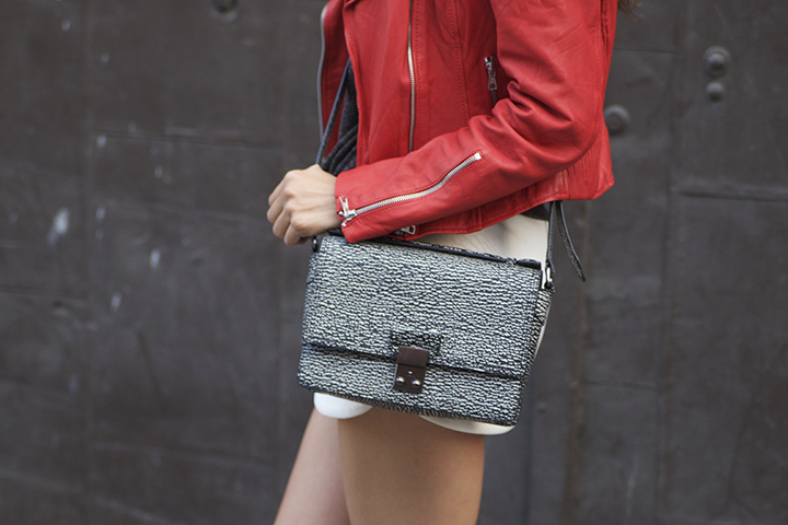 Zara jacket and boots, Ray-ban sunnies,H&M tee, Topshop skirt, Phillip Lim