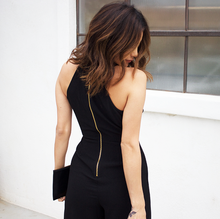 Jumpsuit and heels by Charlotter Russe