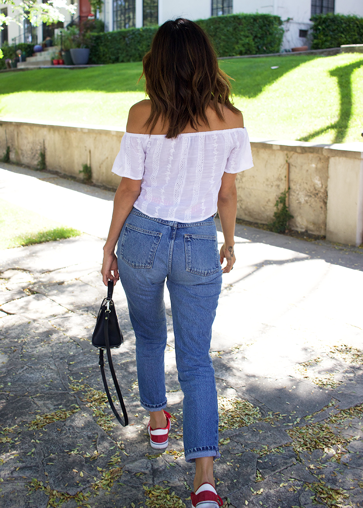 Wildfox sunnies,Forever21 top, Vintage jeans and scarf, Adidas, Zara bag