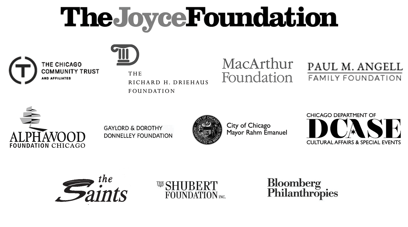 THE BAYLESS FAMILY FOUNDATION                 ART WORKS           VIDAL & ASSOCIATES                   LESTER & HOPE ABELSON FOUNDATION                                 ILLINOIS ARTS COUNCIL