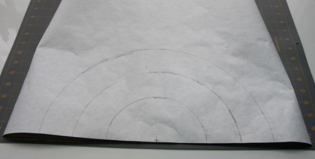 Hooray for Rain - freezer paper curves