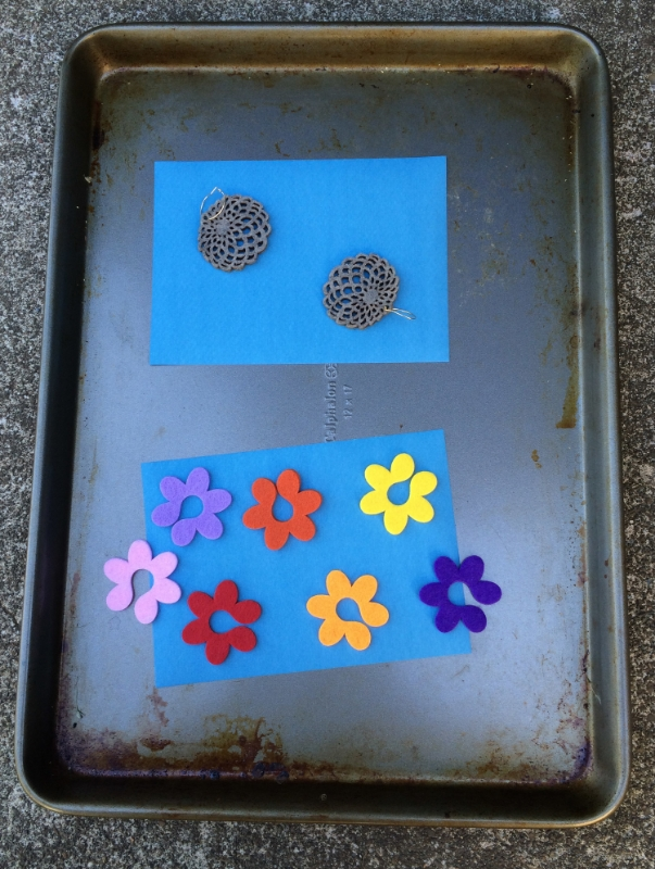 Hooray for Rain - Preparing Sun Prints